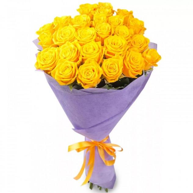 Букет из 29 желтых роз