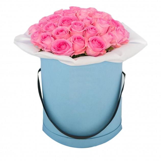 Розы в шляпной коробке № 4